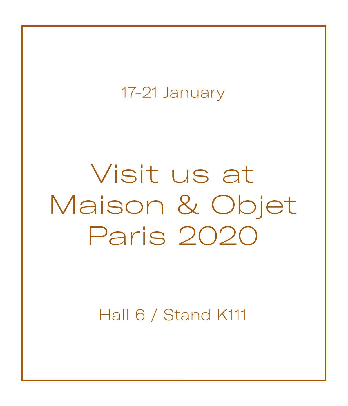 Vergés - Ven a visitarnos en Maison & Objet